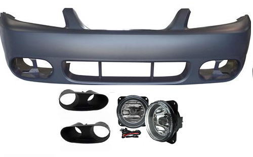 03-04 COBRA Style Mustang - Front Bumper with Fog Lights w/ Bezels - Fits Any 99-04 V6, GT or Cobra (Urethane)