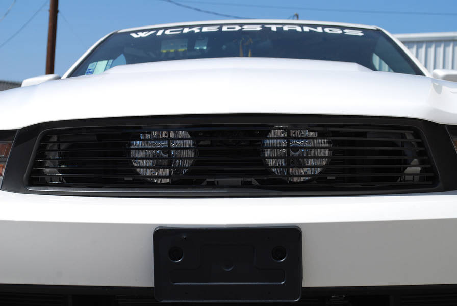 2010-12 Mustang GT Hidden Fog Light Billet Grille - Black (Hides fogs in behind grille) - FULL REPLACEMENT GRILLE