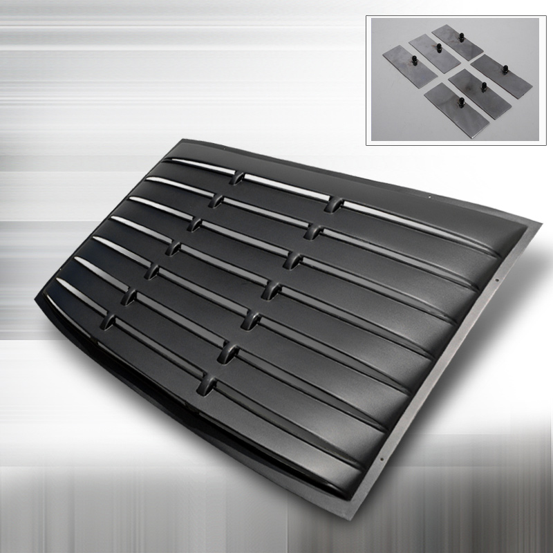2005 2014 Mustang Sd Rear Window Louver Kit Abs Black Finish
