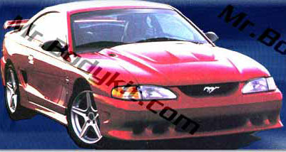 "94-98 Mustang STALKER STYLE ""S"" - 4PC - Body kit (Front + Rear + Sides) - Urethane"